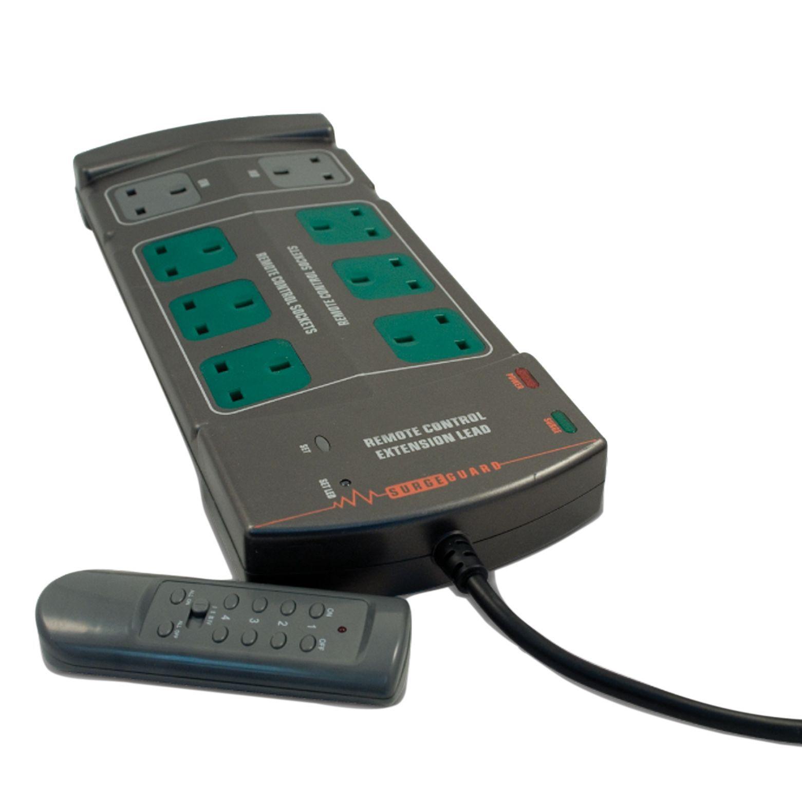 Masterplug 8 Socket 13 A Internal Extension Lead With