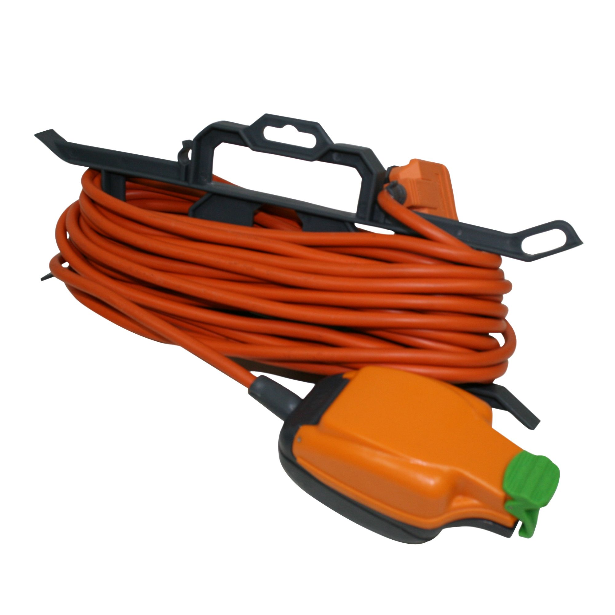 Masterplug 1 Socket 13 A External Extension Lead 15m Orange