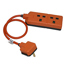 Masterplug 2 Socket 13 A External Extension Lead