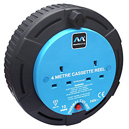 Masterplug 2 Socket 10A Cable Reel (L)4m