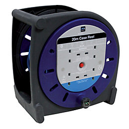 Masterplug 4 Socket 10A Cable Reel (L)20m