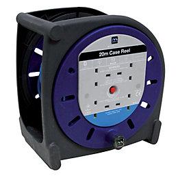Masterplug 4 Socket 10A Cable Reel (L)20m