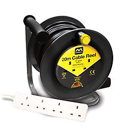 Masterplug 2 Socket 10A Cable Reel & Extension