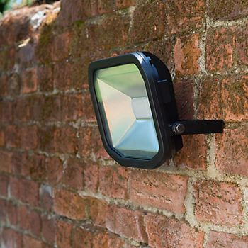 Luceco matt black 38W mains-powered flood light