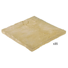 Golden Sand Milldale Mixed Size Paving Pack