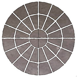 Grey Wetherdale Circle Paving Pack (D)2.4M