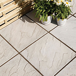 Grey Derbyshire Single Paving Slab (L)450mm (W)450mm
