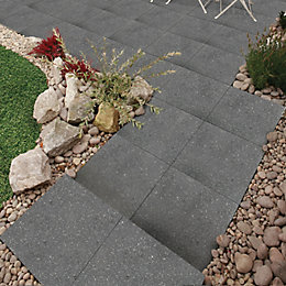 Midnight Grey Panache Paving Slab (L)450 (W)450mm Pack