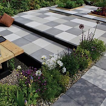 Silver Grey Panache Smooth Paving Slab
