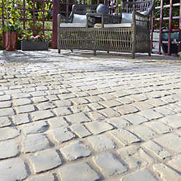 Buff Carpet Stones Cobble Mat Straight Pack of