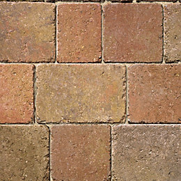 Autumn Woburn Rumbled Block Paving (L)100mm (W)134mm, Pack