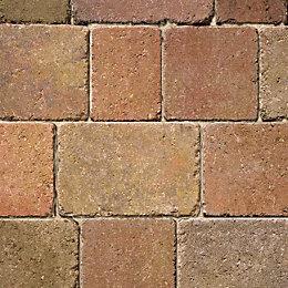 Autumn Woburn Rumbled Block Paving (L)200mm (W)134mm, Pack