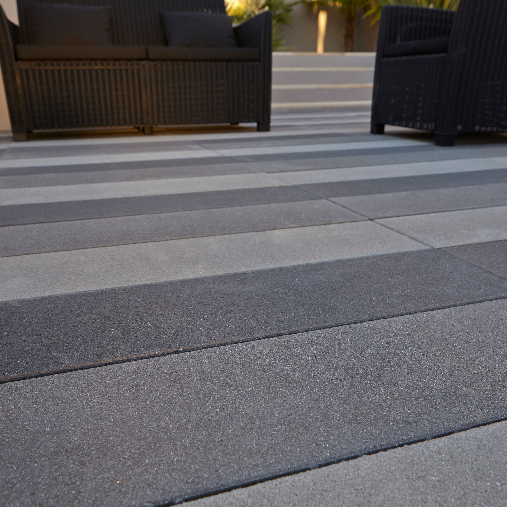 Dark Grey Washed Stonemaster Paving Slab L 800 W 200mm
