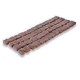 Rustic Red Carpet Stones Cobble Mat Straight Pack