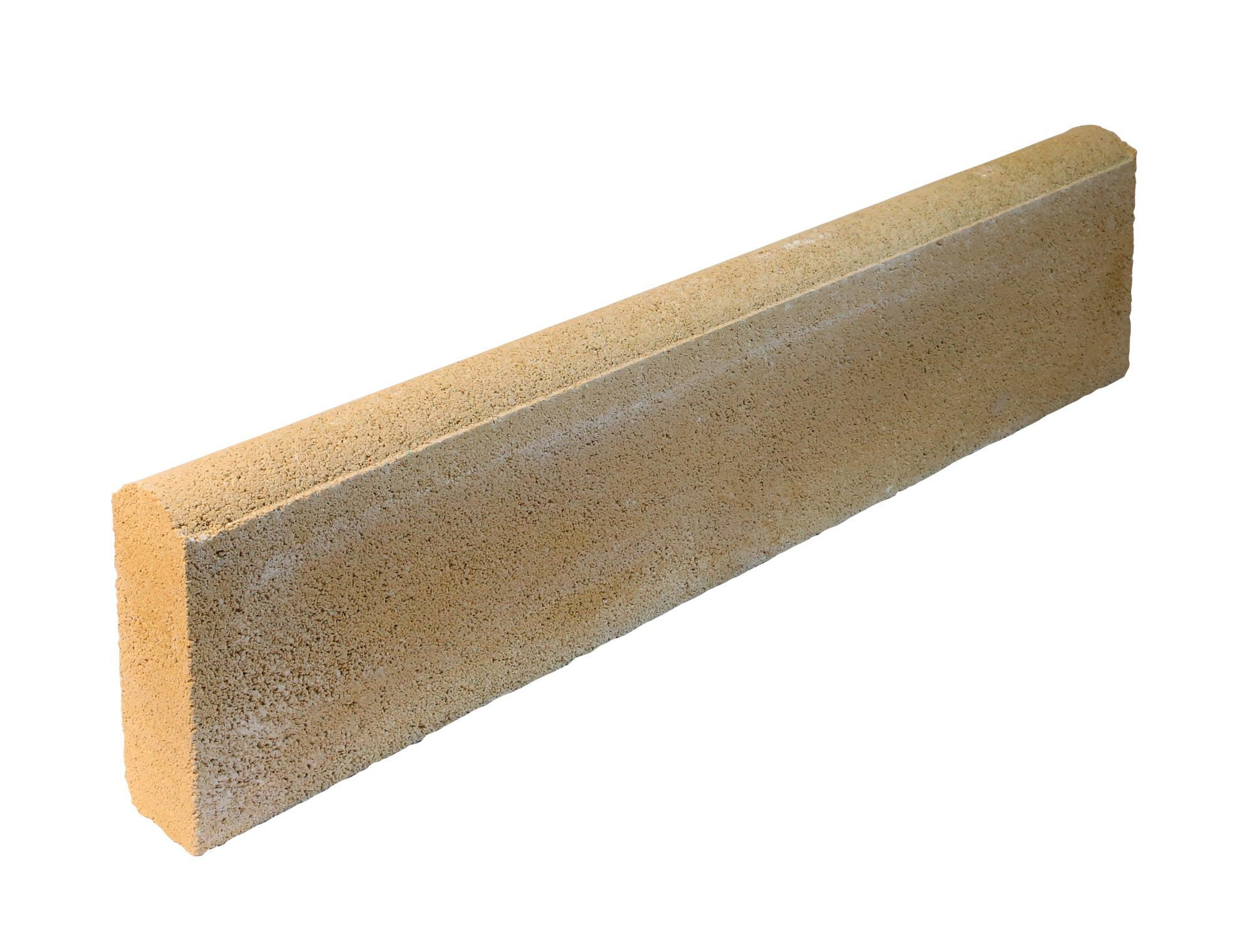 Round Top Paving Edging Buff, (l)600mm (h)150mm (t)50mm Pack Of 48