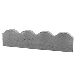 Scalloped Paving Edging Grey, (L)600mm (H)150mm (T)50mm Pack