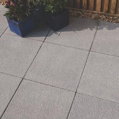 Blue Black Textured Paving Slab L 450 W 450mm Pack Of 40