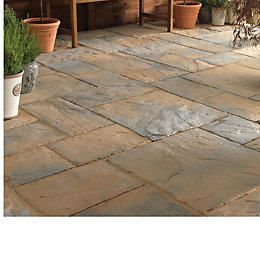 Abbey Brown Ancestry Paving Slab (L)600mm (W)450mm, 7.02