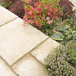 Weathered Limestone Old Town Paving Slab (L)900 (W)600mm