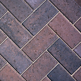 Burnt Oker Europa Block Paving (L)200mm (W)100mm, Pack