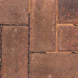 Autumn Infilta Block Paving (L)200mm (W)100mm, Pack of