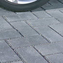 Charcoal Infilta Block Paving (L)200mm (W)100mm, Pack of