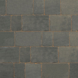 Cinder Monksbridge Mixed Size Block Paving, Pack of