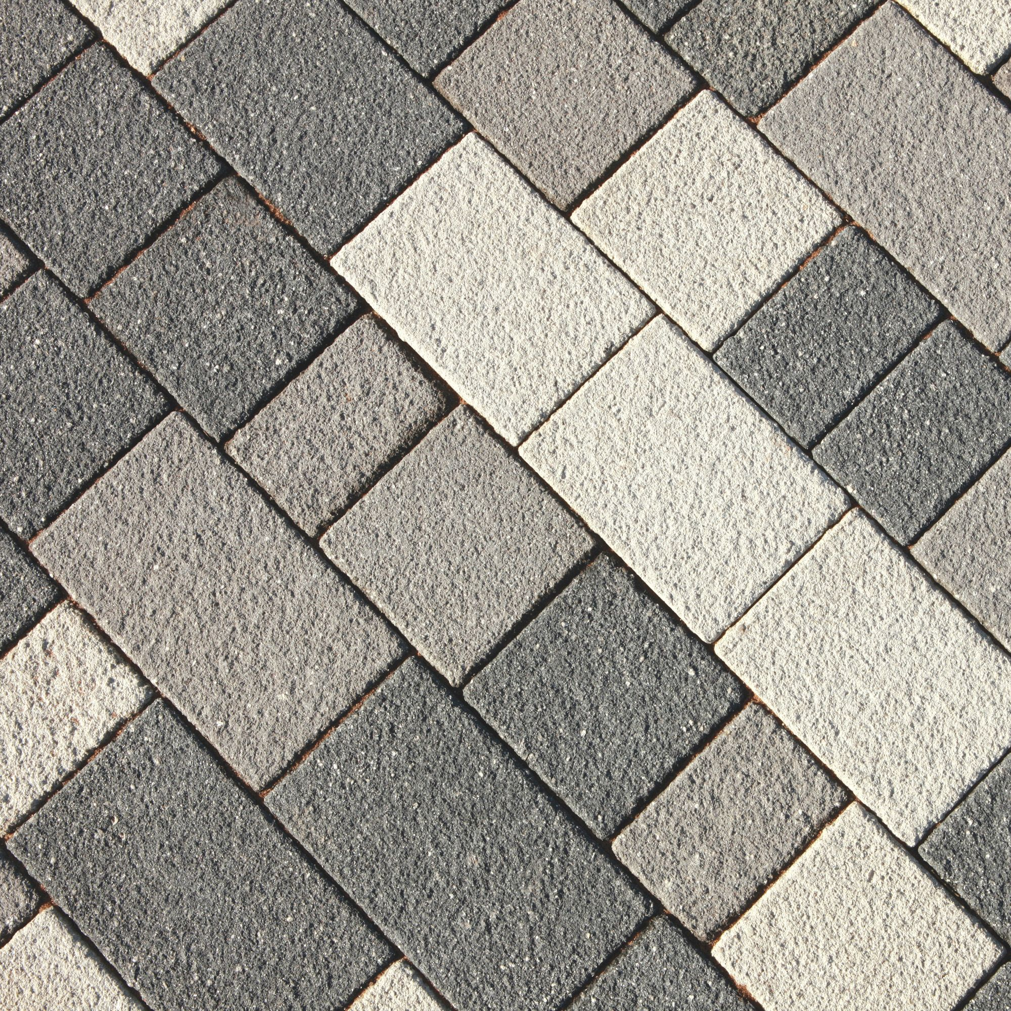 Silver Grey Panache Textured Mixed Size Block Paving Pack