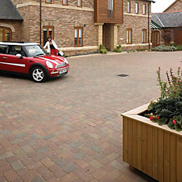 Rustic Woburn Rumbled Block Paving (L)100mm (W)134mm, Pack