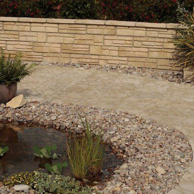 Old Town Weathered Limestone Walling Stone, (L)450mm (W)145mm