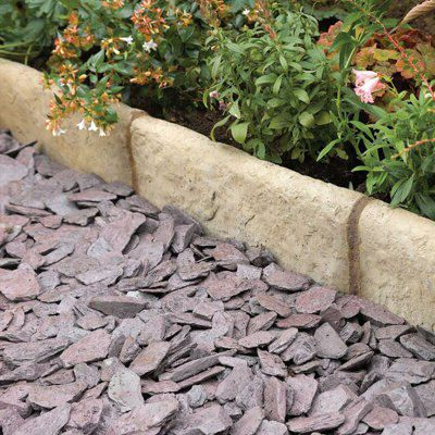 Traditional Old Town Paving Edging Grey & Green, (l)450mm (h)200mm (t)50mm Pack Of 34