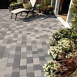 Light Grey Stonemaster Mixed Size Block Paving, Pack