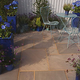 Colonial Brown Natural Sandstone Paving Slab (L)600 (W)300mm
