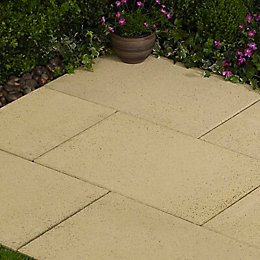 Speckled Buff Lisse Paving Slab (L)600mm (W)400mm