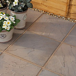 Brown Blend Derbyshire Paving Slab (L)450 (W)450mm Pack