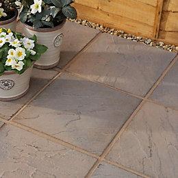 Brown Blend Derbyshire Paving Slab (L)450 (W)450mm Pack