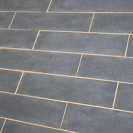 Blue Black Natural Limestone Paving Slab (L)800mm (W)200mm