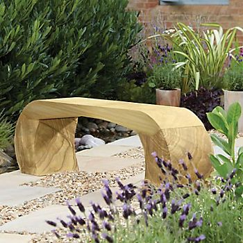 Curvo Natural Sandstone Bench