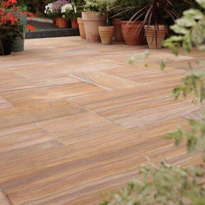 Rainbow Sawn Natural Sandstone Mixed Size Paving Pack,