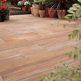 Rainbow Sawn Natural Sandstone Mixed Size Paving Pack