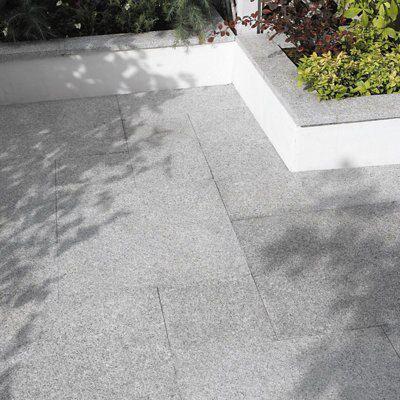 Grey Granite Slabs : Mid grey natural granite paving slab l mm w