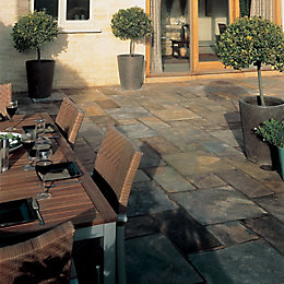 Vijaya Gold Natural Slate Mixed Size Paving Pack,