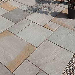 Rustic Grey Natural Sandstone Mixed Size Paving Pack