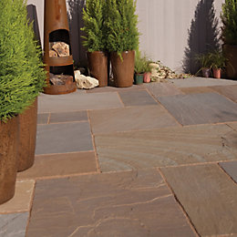 Rustic Buff Natural Sandstone Mixed Size Paving Pack