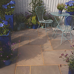 Colonial Brown Natural Sandstone Mixed Size Paving Pack
