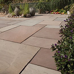 Imperial Green Natural Sandstone Mixed Size Paving Pack