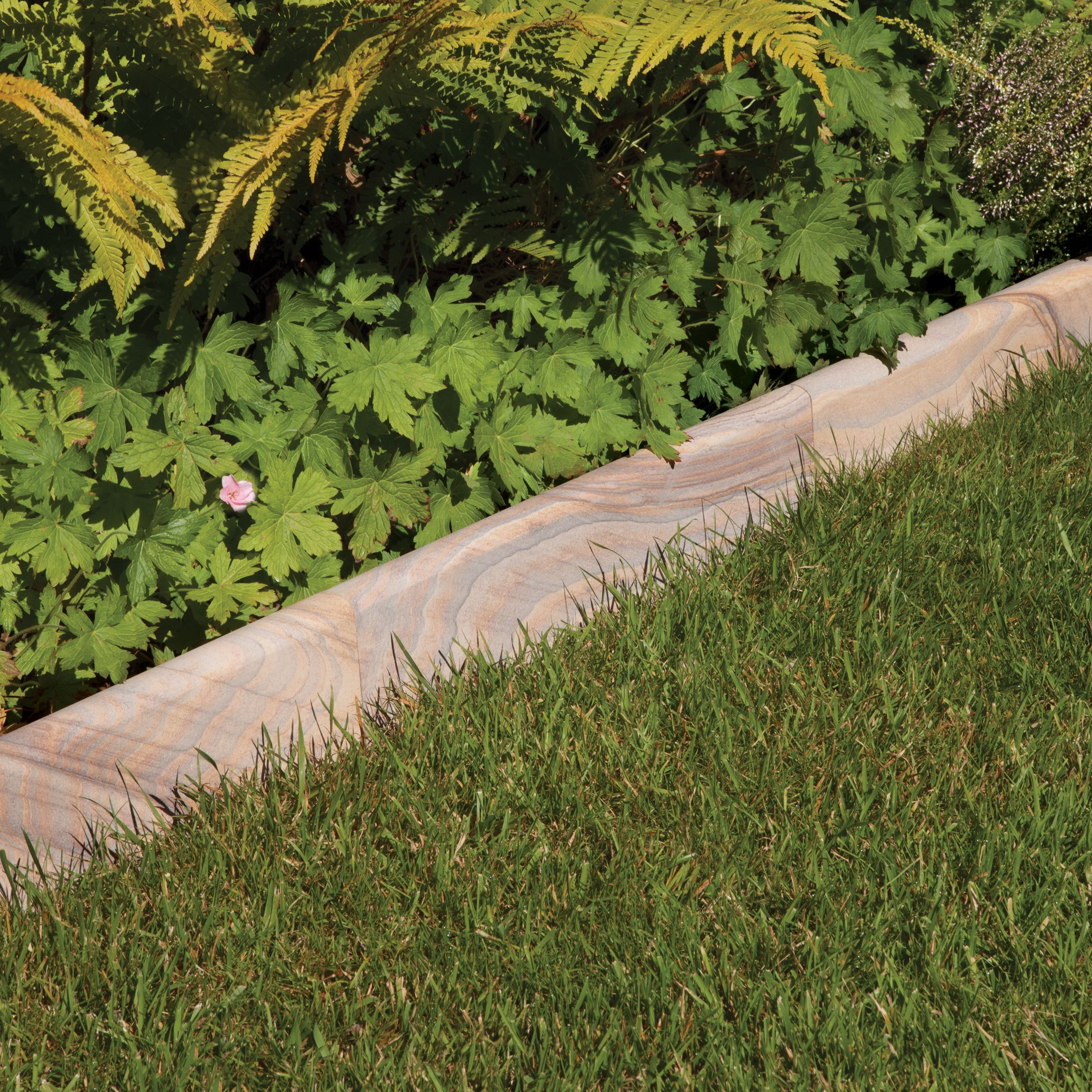 Smooth Natural Sandstone Paving Edging Rainbow L 150mm