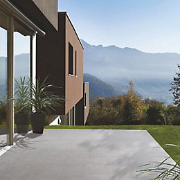 Dark Grey Mode Porcelain Paving (L)600 (W)600mm Pack