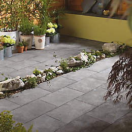 Dark Grey Aged Riven Mixed Size Paving Pack