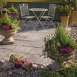 Weathered Grey Ashbourne Mixed Size Paving Pack (L)3600